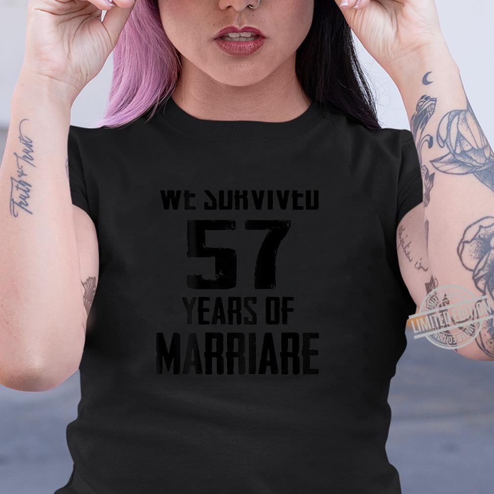 57th Wedding Anniversary Couples For Wife Husband Shirt