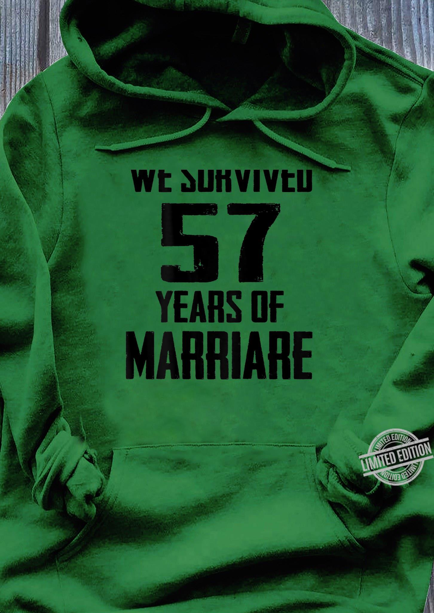 57th Wedding Anniversary Couples For Wife Husband Shirt hoodie