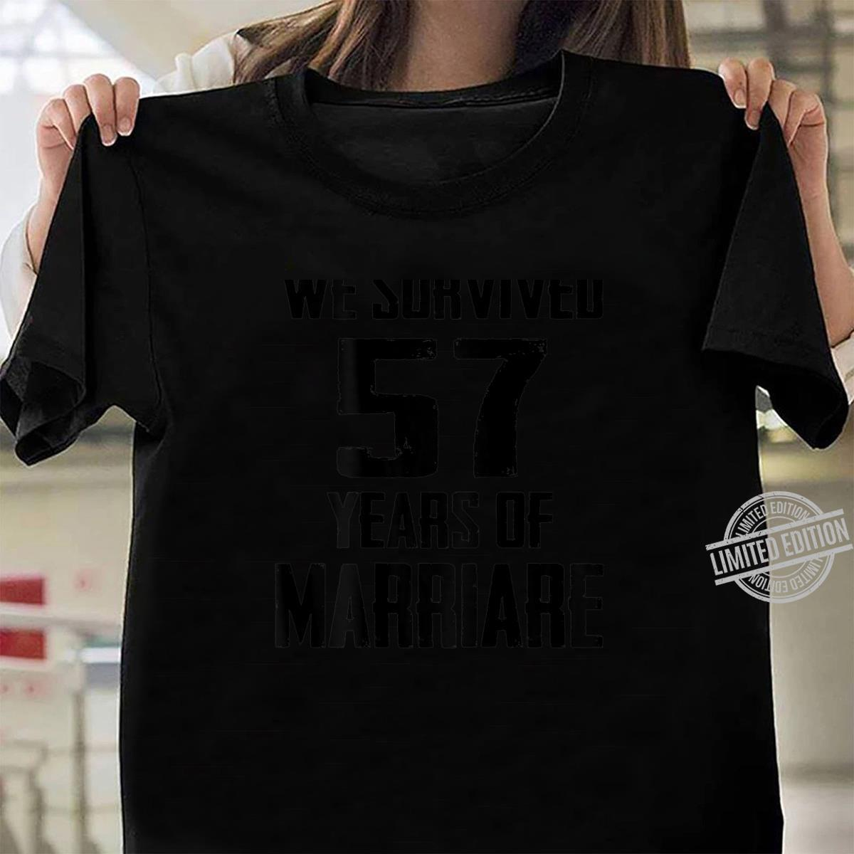 57th Wedding Anniversary Couples For Wife Husband Shirt ladies tee