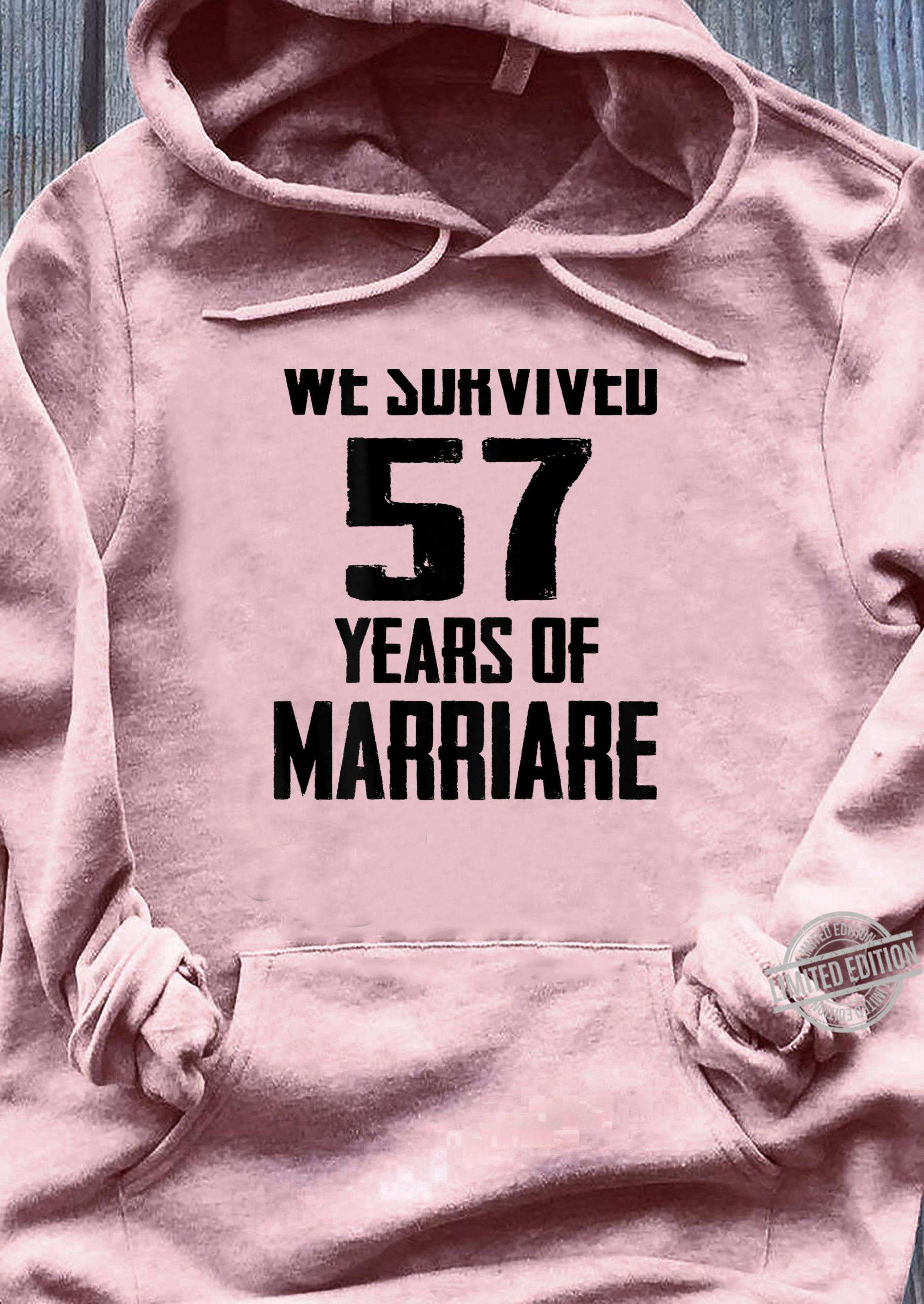 57th Wedding Anniversary Couples For Wife Husband Shirt sweater