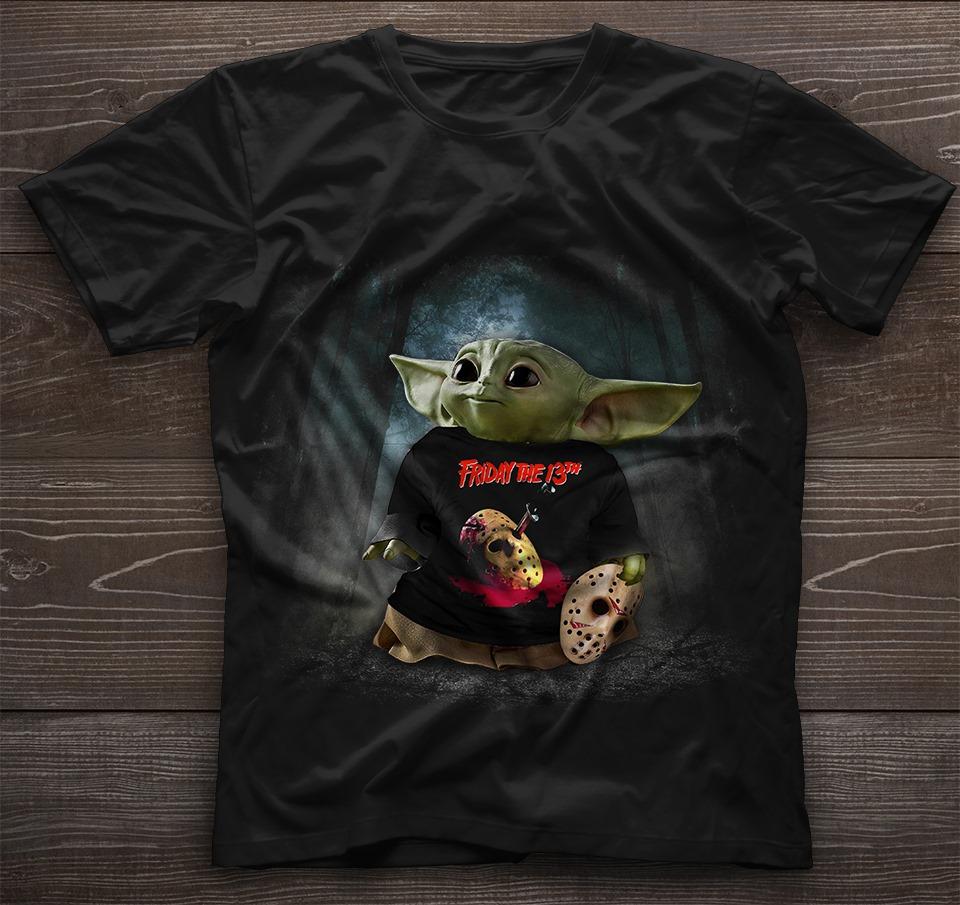 Baby Yoda friday the 13th shirt