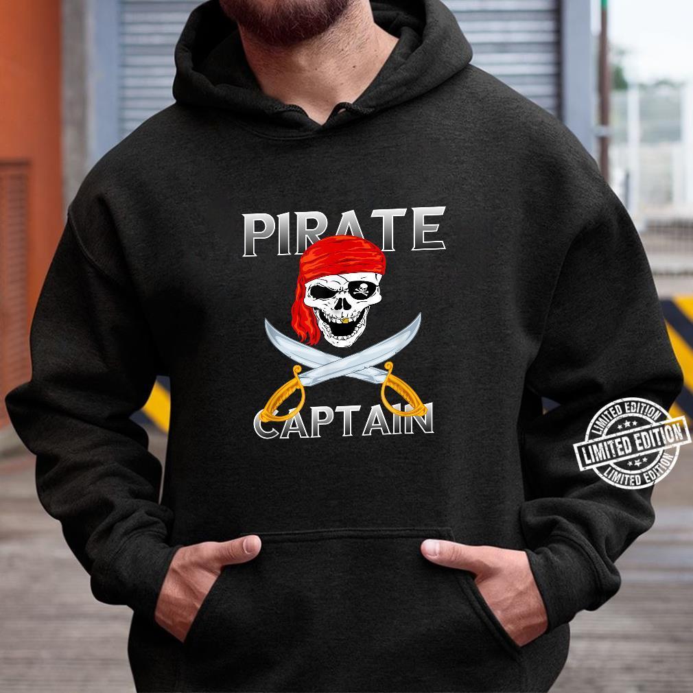 Piraten Kapitän Vintage Totenkopf Pirat Kostüm Halloween Shirt hoodie