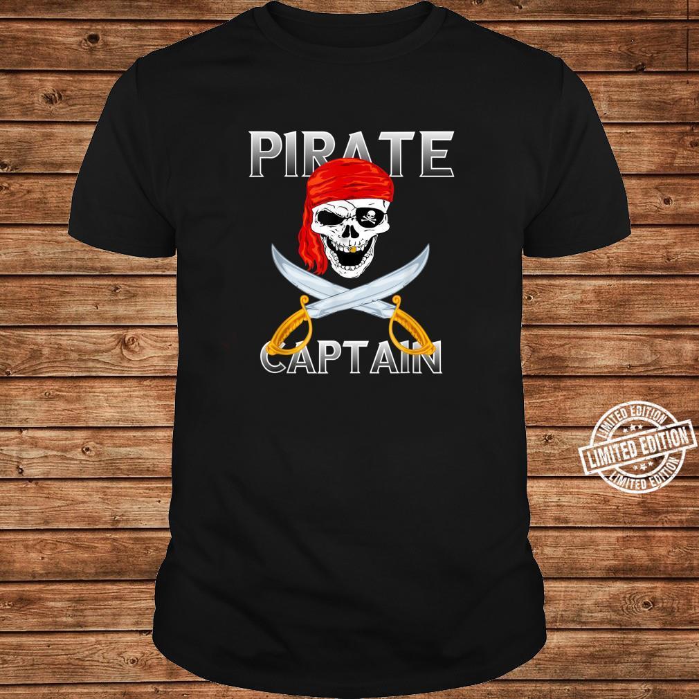 Piraten Kapitän Vintage Totenkopf Pirat Kostüm Halloween Shirt long sleeved